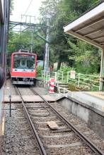 The funicular we took to Hakone
