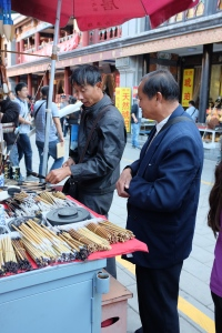 Flea market - calligraphy stall